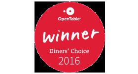 Winner Diners Choice Award